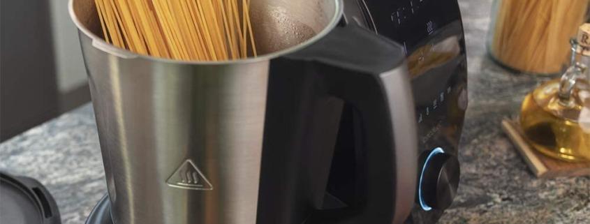 Robot de cocina multifunción con recetario